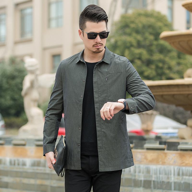 派克服春季新款大码男装中长款翻领夹克外套优惠券