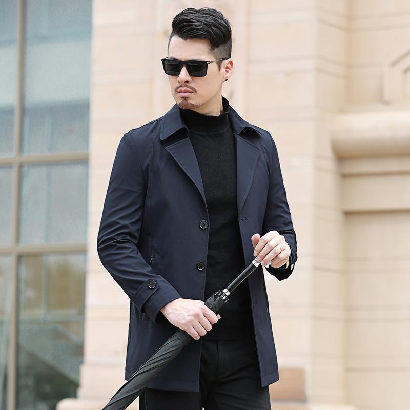 【传奇保罗】男士商务中长款风衣休闲夹克优惠券