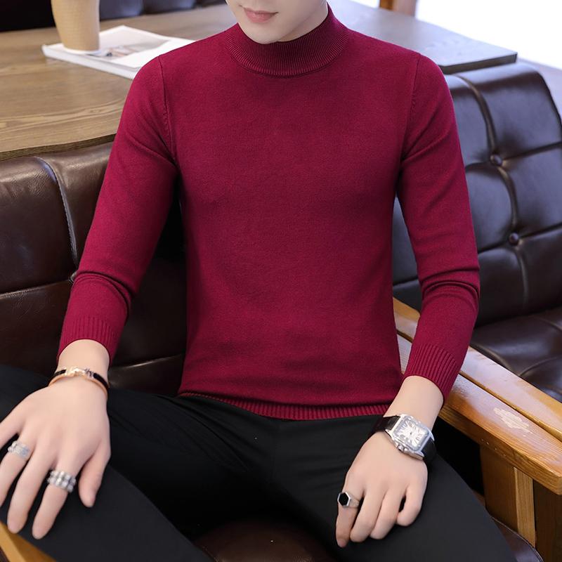 【纯色新款】男士毛衣男装修身针织衫毛衫优惠券