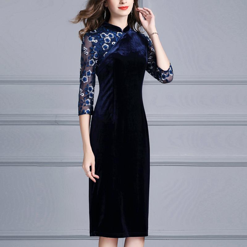 气质优雅时尚丝绒连衣裙优惠券