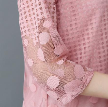 雪纺衫女夏韩版显瘦宽松蕾丝上衣优惠券