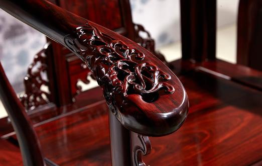 红酸枝皇宫圈椅 红酸枝微型小家具模型红木优惠券