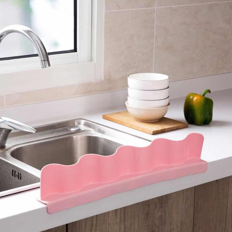 吸盘式水池挡水板厨房水槽防溅防水挡板优惠券