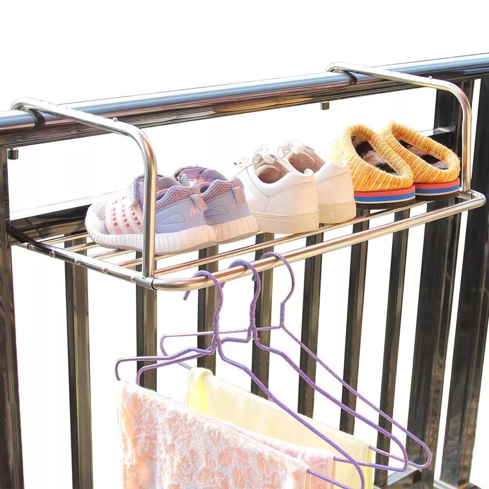 不锈钢阳台晾晒架窗台晾鞋架窗户小型晾衣架折叠架优惠券