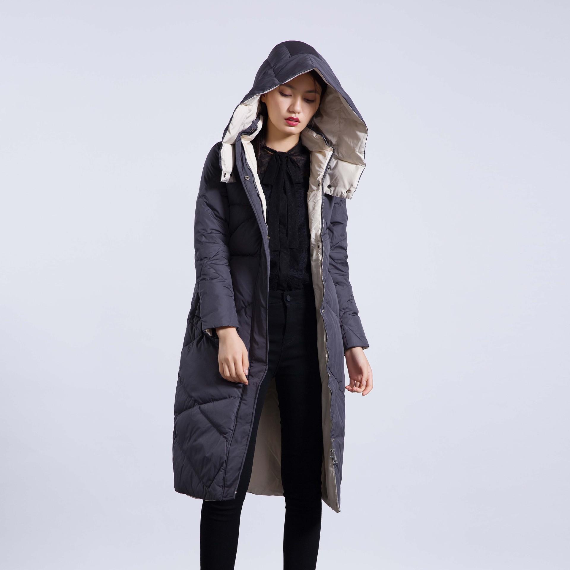冬季新款羽绒服女棉衣菱形格面包服中长款优惠券