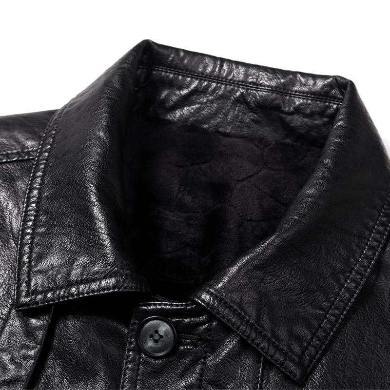 西服太死板了!瞧瞧这样的真皮衣、薄夹克,50老公穿派气贼体面