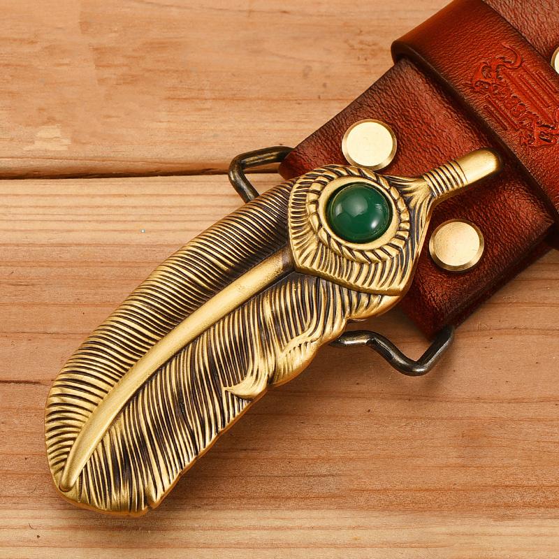 现在流行这样的纯铜扣皮带,引领时尚潮流,还不把你的腰带换了?