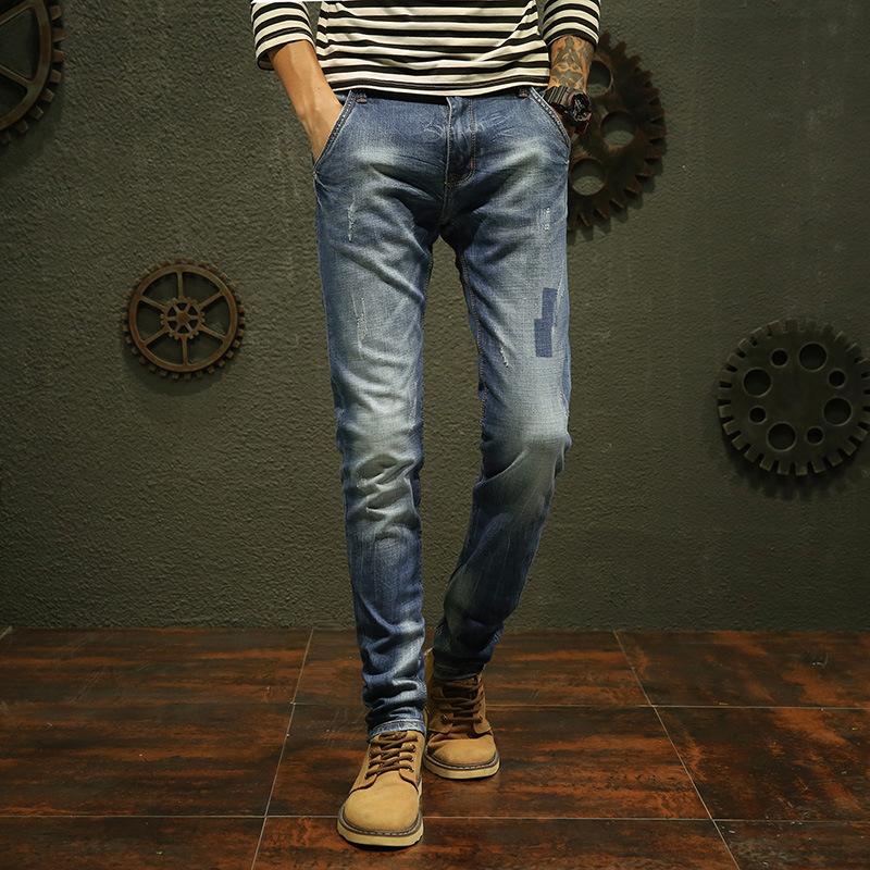 a6 夏季新款修身直筒牛仔裤优惠券
