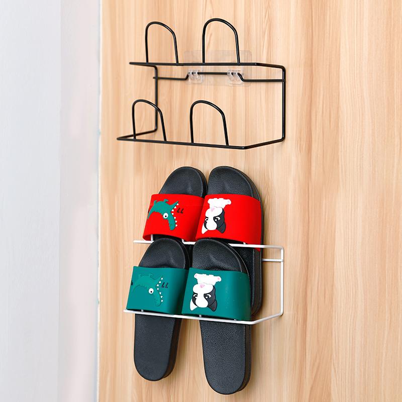 双层简易鞋架家用宿舍挂式粘胶置物架优惠券