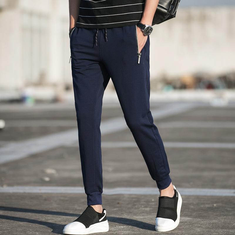 新款韩版男式休闲小脚哈伦裤运动长裤优惠券
