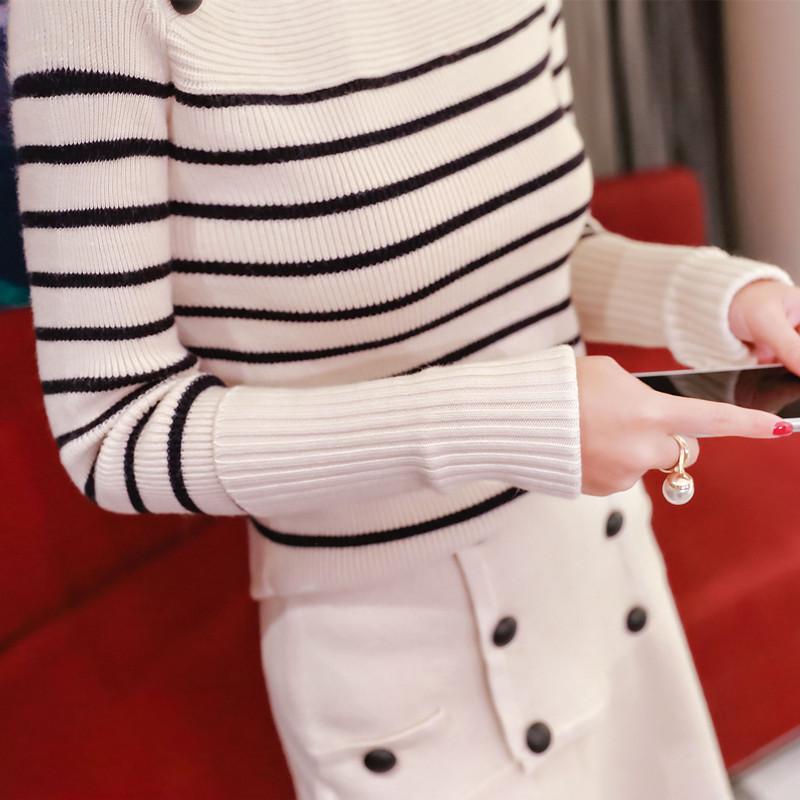 英伦风条纹针织毛衣两件优惠券