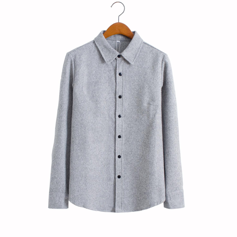 新款衬衫女长袖简约百搭外套打底衫优惠券