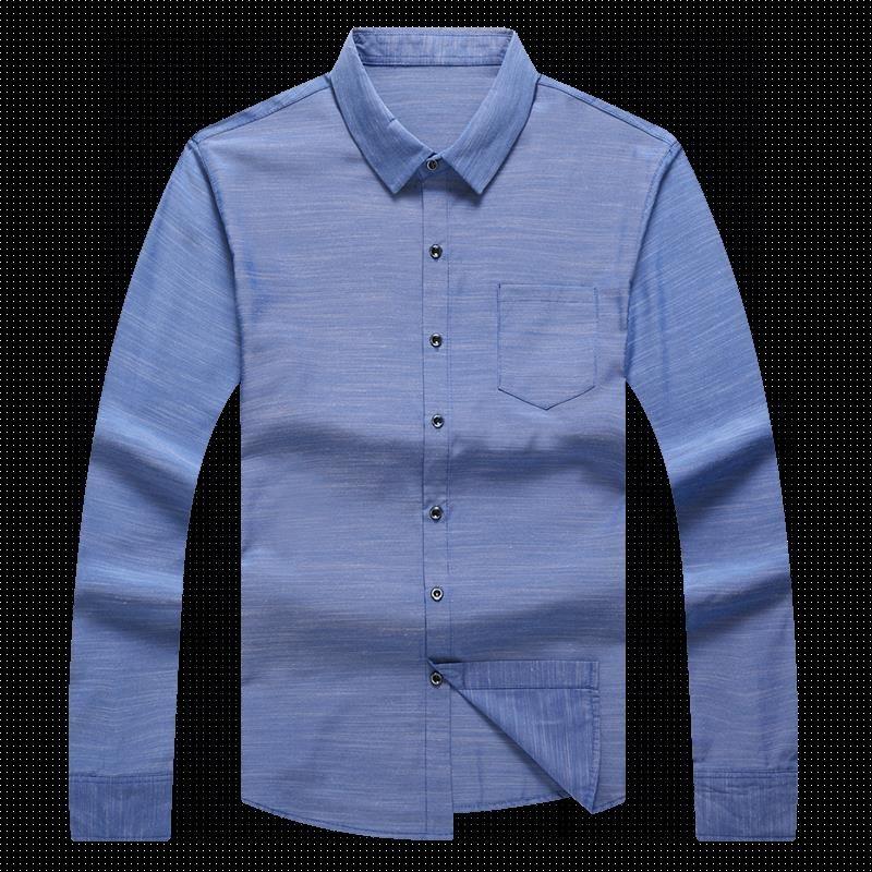 衬衫长袖中年男士格子男中老年衬衣薄爸爸装优惠券