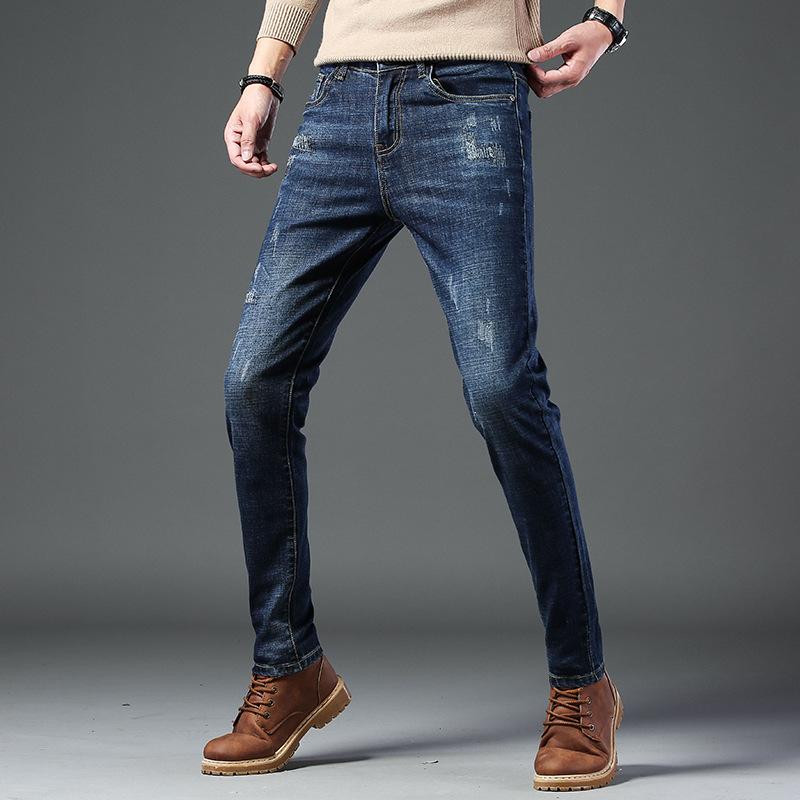 秋冬男式韩版修身弹力小脚牛仔裤优惠券