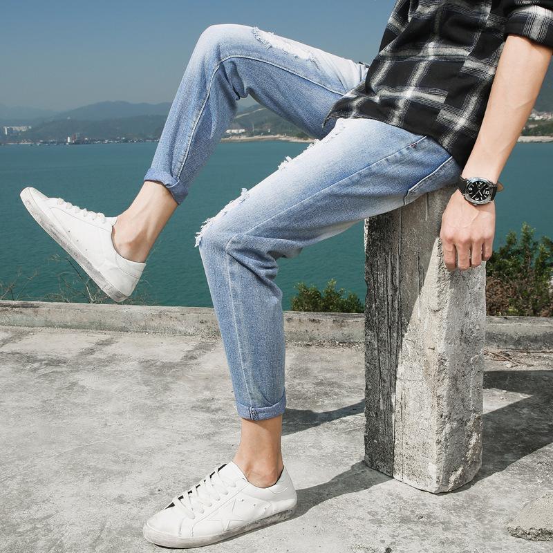 新款韩版青少年破洞牛仔裤优惠券