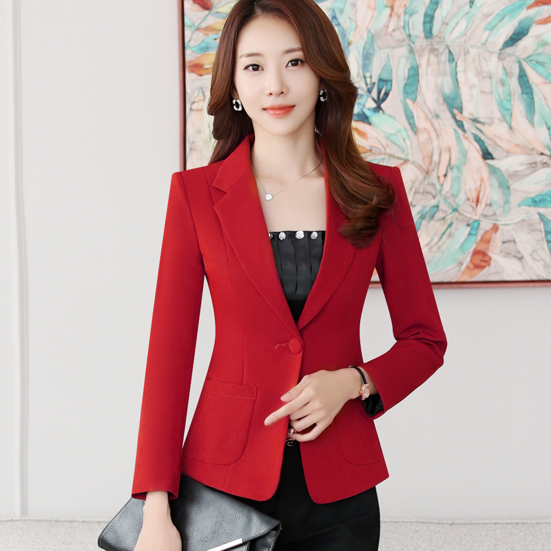 小西装女外套韩版修身显瘦优惠券