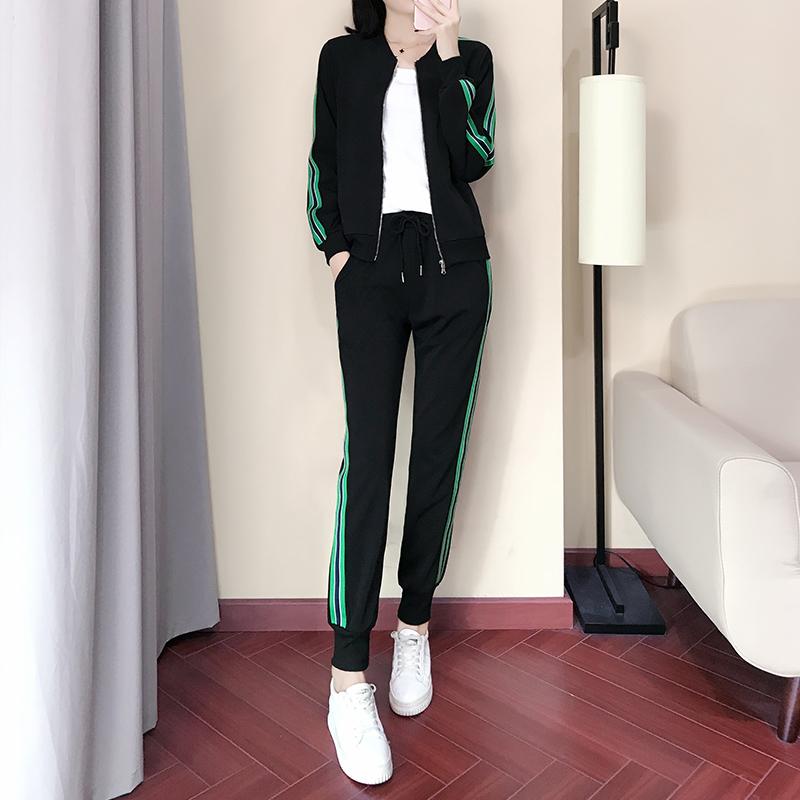 潮韩版宽松显瘦运动服两件套休闲时尚棒球优惠券