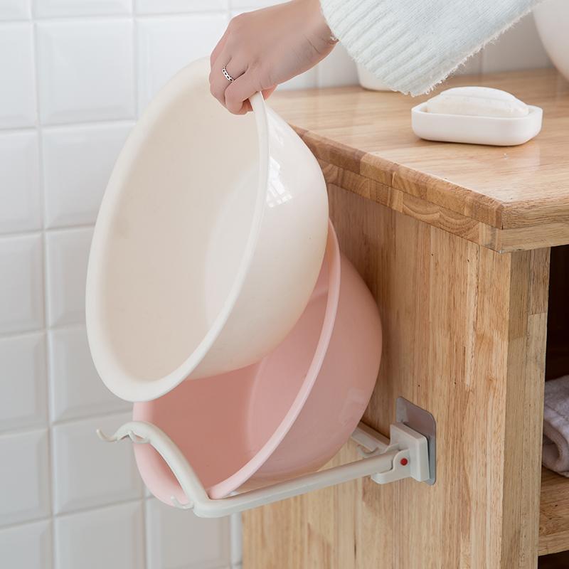 浴室厨房免钉吸壁整理收纳挂架脸盆挂钩优惠券