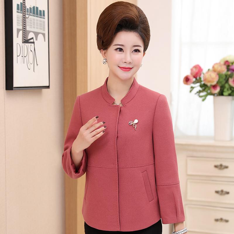 秋装外套高档开衫长袖短款中年上衣秋装外套优惠券