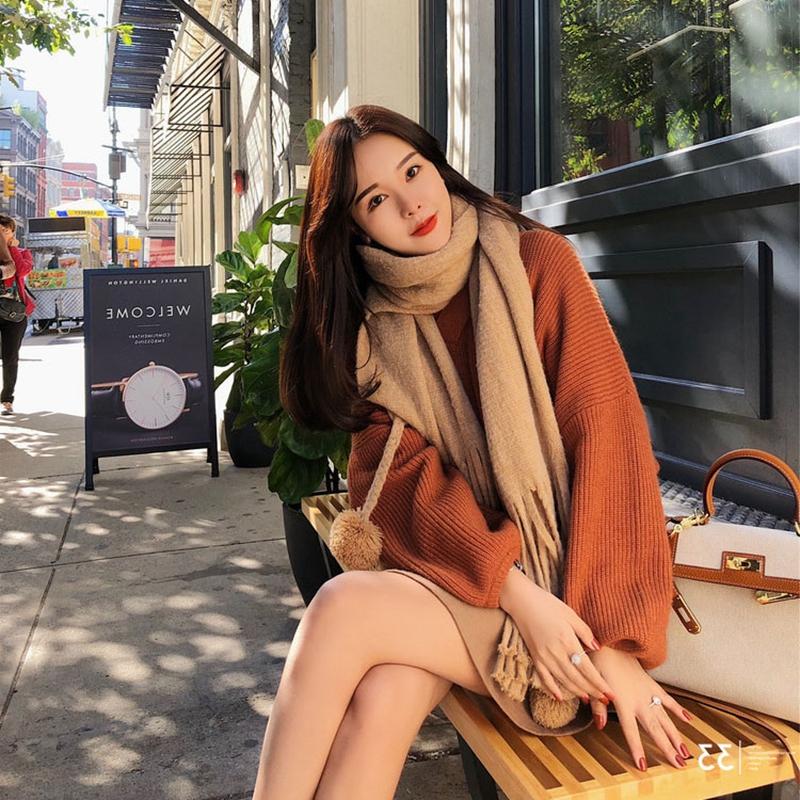 韩版学生港风复古宽松慵懒风针织毛衣两件套优惠券