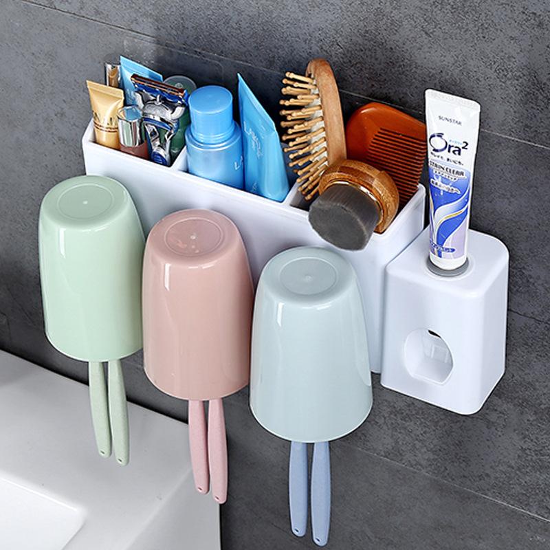 创意壁挂三口之家自动挤牙膏器优惠券