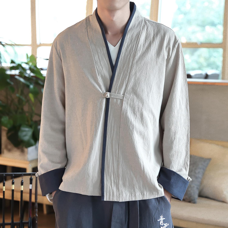 中国风盘扣上衣男外套夹克短款风衣优惠券