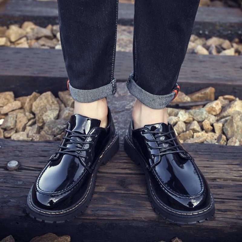 韩版潮流休闲时尚亮皮英伦大头皮鞋优惠券