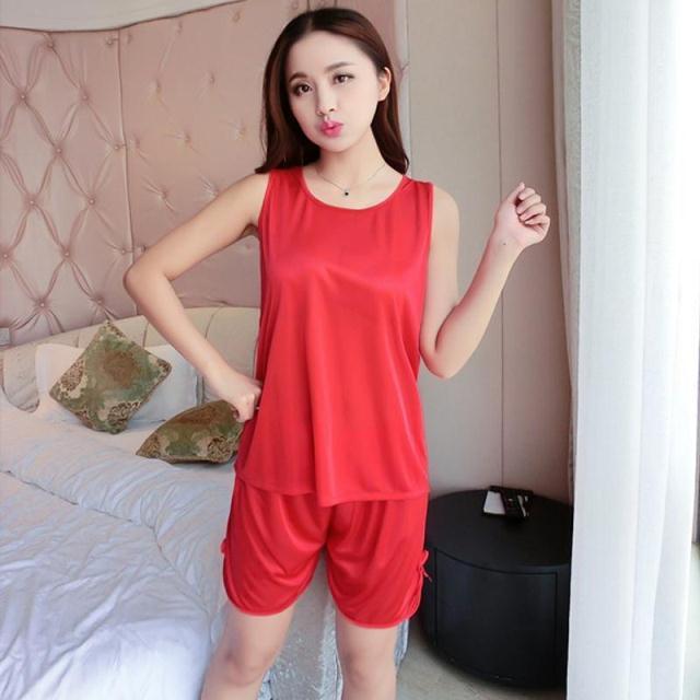 睡衣女性感两件套装冰丝薄款韩版家居服优惠券