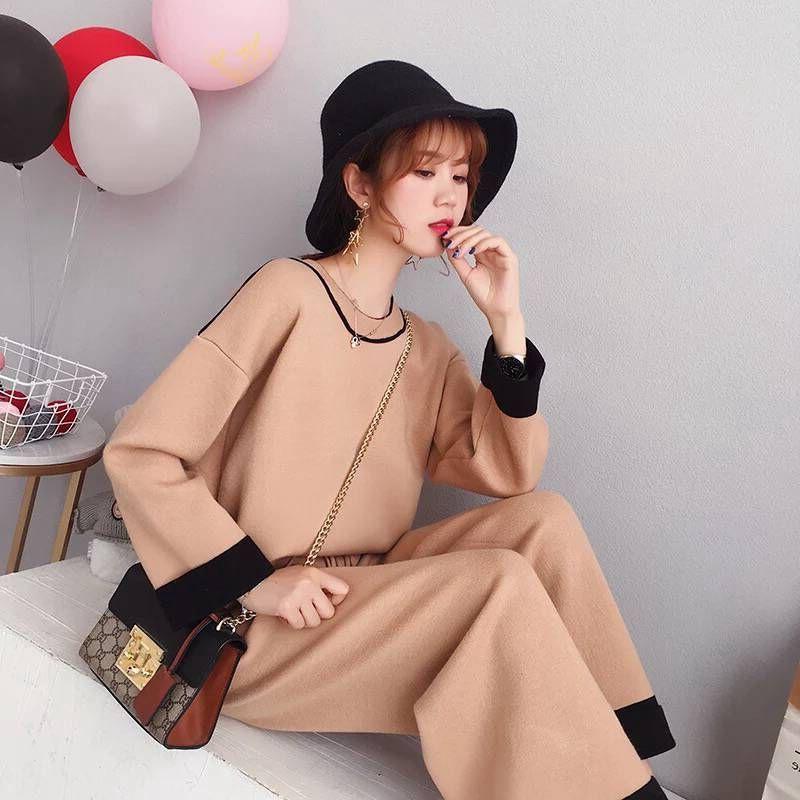 2018秋季新款韩版针织衫两件套女装优惠券