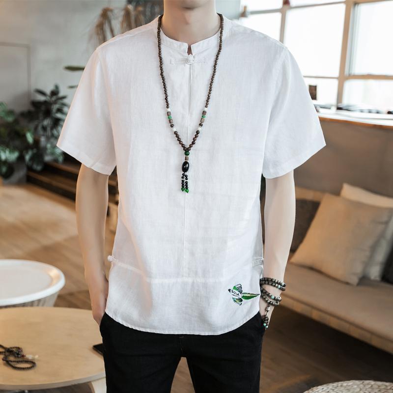 中国风复古刺绣短袖T恤