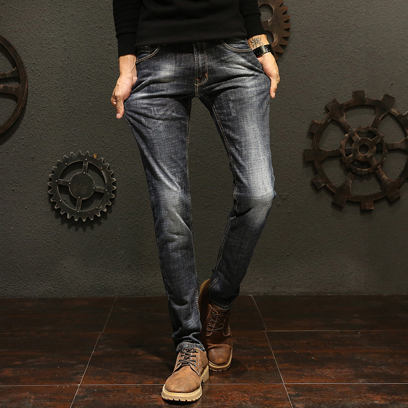 秋季男士青少年直筒修身牛仔裤优惠券